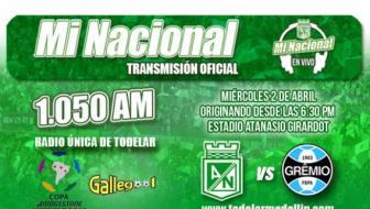 Atlético Nacional vs Gremio