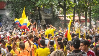 Watching the 2014 World Cup in Parque Lleras (Photos)