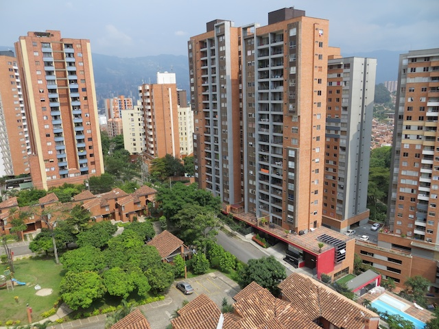 Apartment buildings in Lomo de Los Bernal, a barrio in Belén