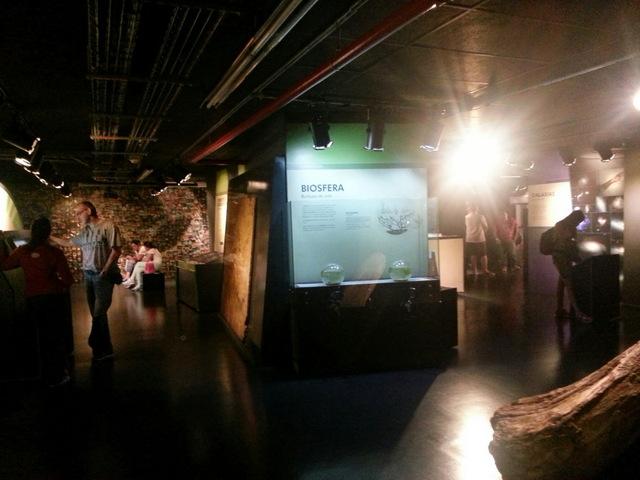 Exhibits inside the planetarium.