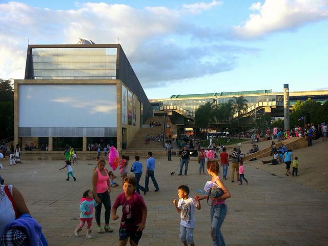 The planetarium from Parque de los Deseos.