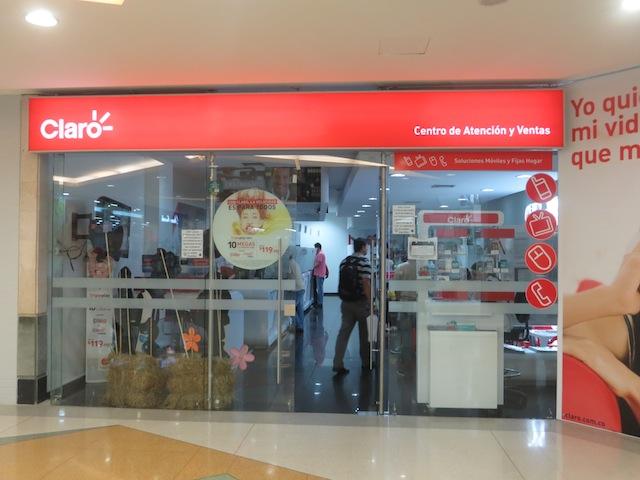 Claro Store in Los Molinos mall