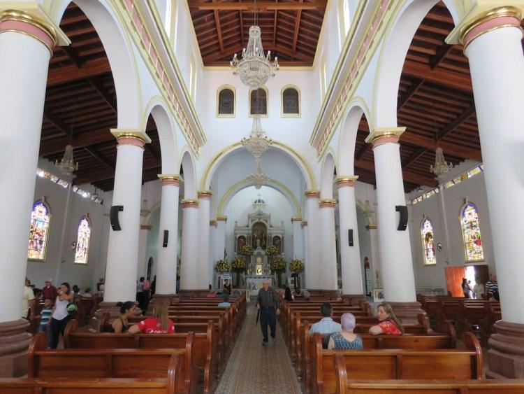 The Central Nave Inside Iglesia de Santa Ana