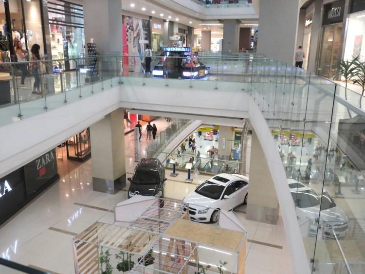Inside Parque Arboleda mall, the best mall in Pereira