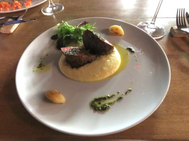 The Beef Tenderloin with roasted garlic and potato purée