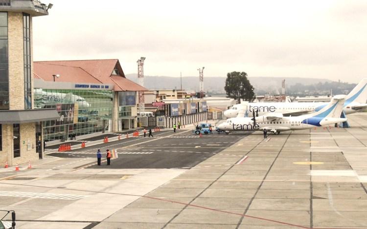 Cuenca's tiny Mariscal La Mar airport