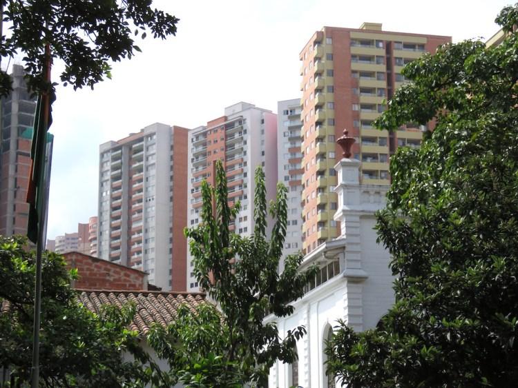 Apartment buildings in Sabaneta