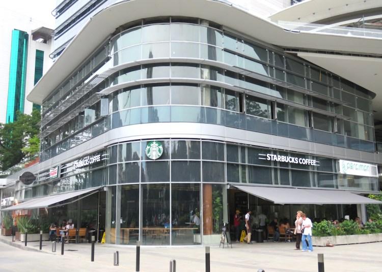 The first Starbucks in Medellín