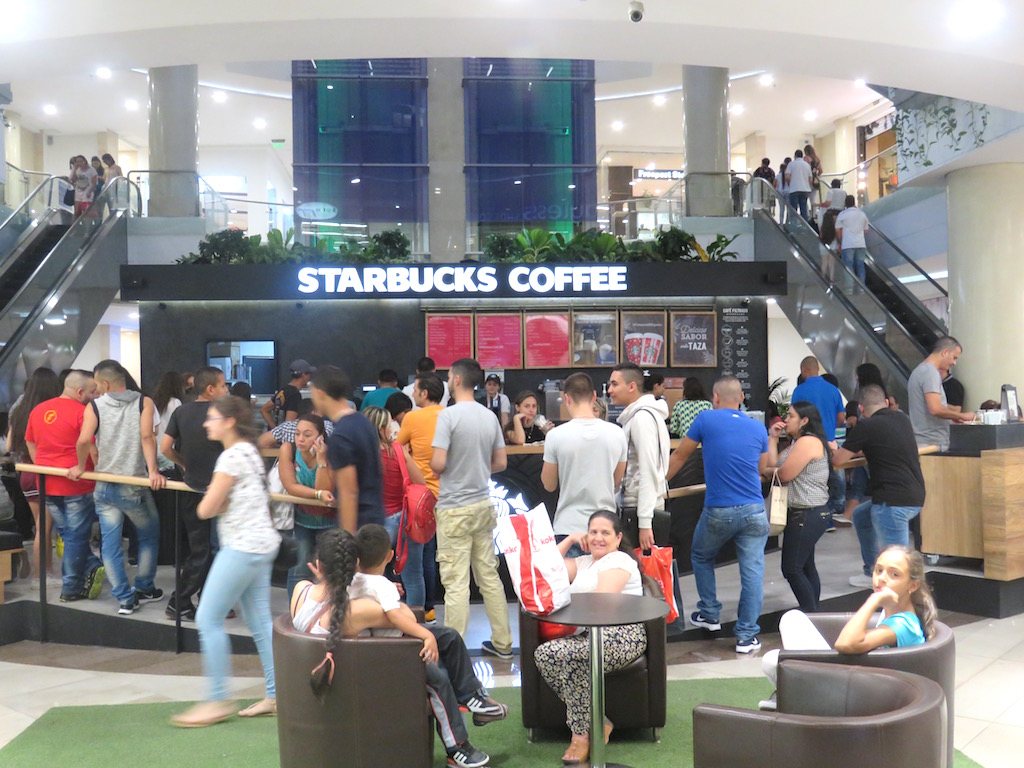 Starbucks in Santafé mall in Medellín