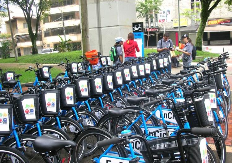 Encicla bikes, photo courtesy of Secretaria de Movilidad de Medellín