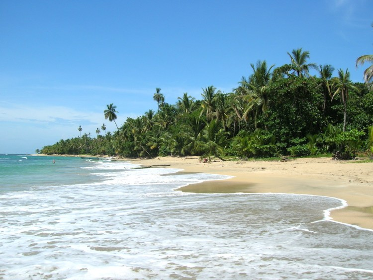 Playa Punta Uva, about 4-5 hours drive from San Jose