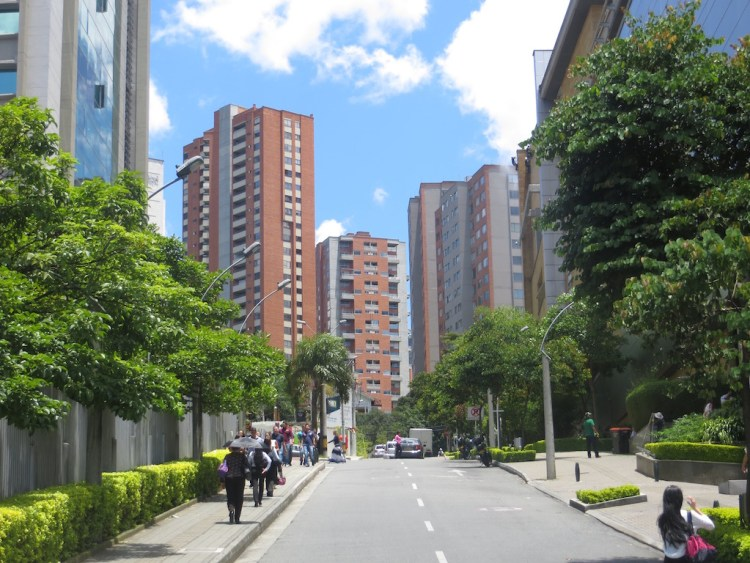 Apartment buildings in El Poblado near Santafé mall