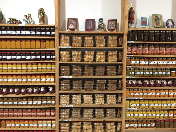 A fraction of the products available at Dulces del Jardín