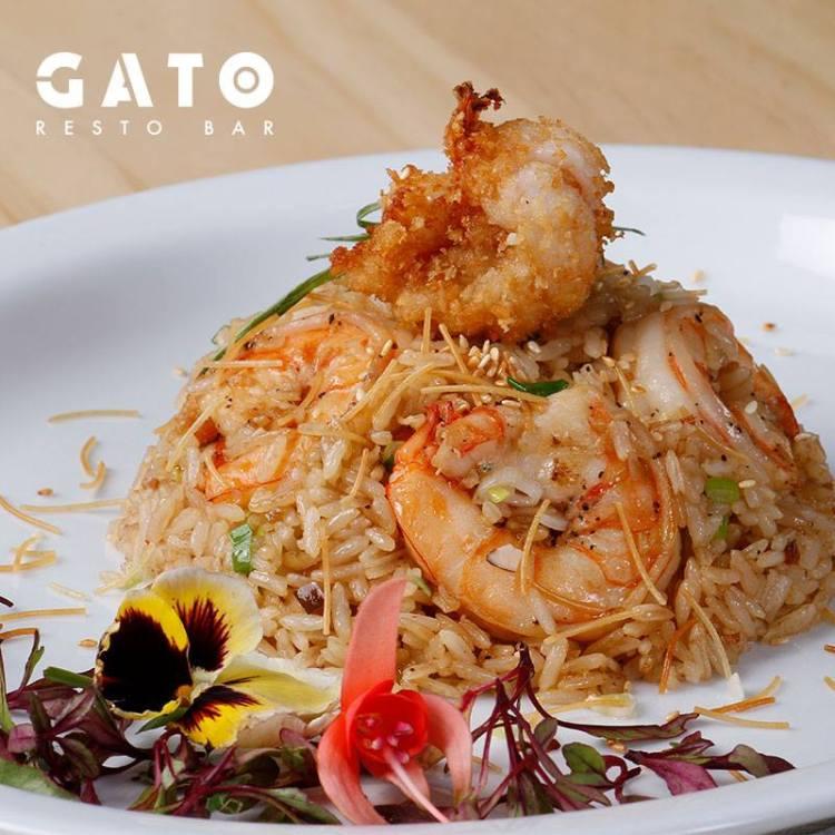 Wok style rice with shrimp at Gato Restaurante & Cocina Peruana