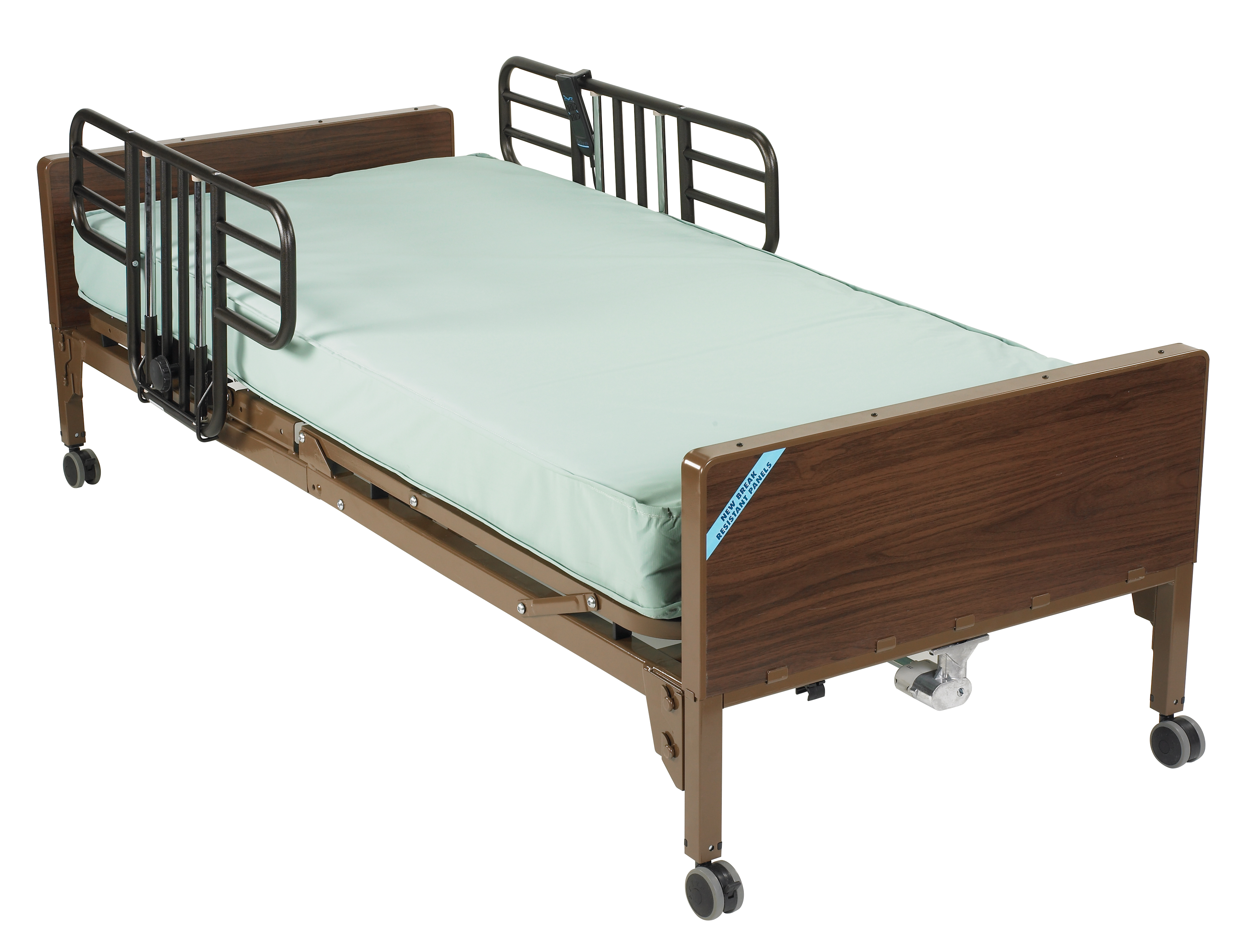 Delta Ultra Light Semi Electric Hospital Bed With Half Rails And