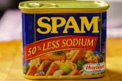 A can of low-sodium Spam