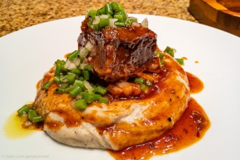 Tuesday dinner. Beef short rib with mashed potato.