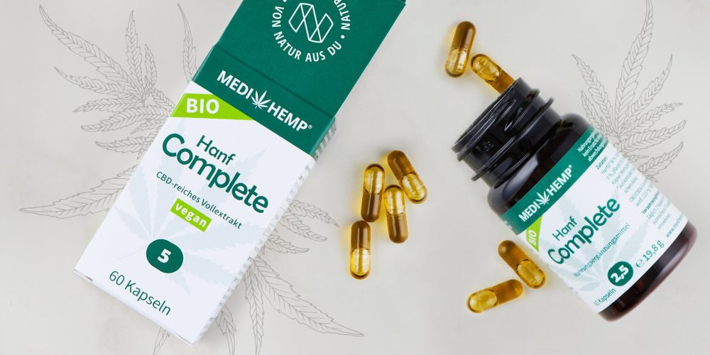 Medihemp Organic Hemp complete kapsle