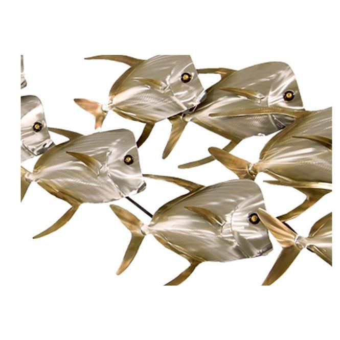 Recycled metal fish wall art mosaic rustic s