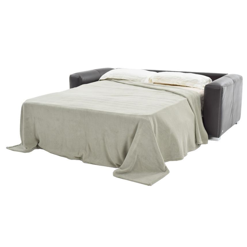 Bay Harbor Gray Leather Sleeper El Dorado Furniture