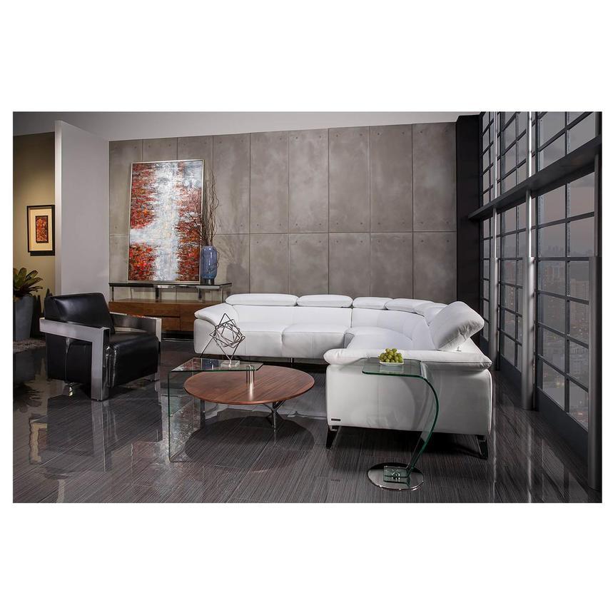 tesla white oversized leather sofa
