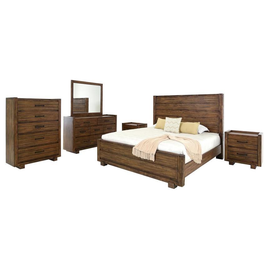 aspen 6 piece queen bedroom set