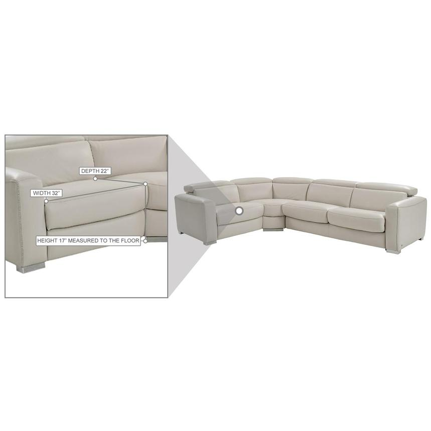 bay harbor light gray leather power reclining sectional w right sleeper