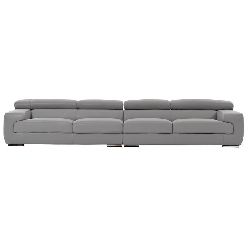 grace light gray oversized leather sofa