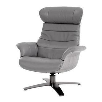 Enzo Pure White Leather Swivel Chair El Dorado Furniture