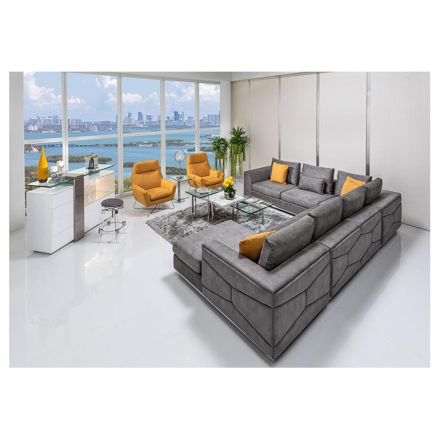 grigio gray sectional sofa w right chaise el dorado furniture