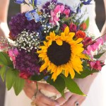 Rose And Sunflower Wedding Bouquet 62 Off Sintoemcasa Com Br