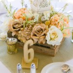 Diy Wooden Box Gold Rose Centerpieces