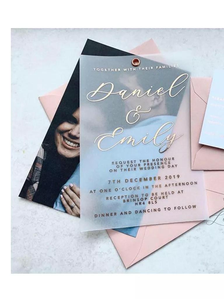 21 unique wedding invitations that ll