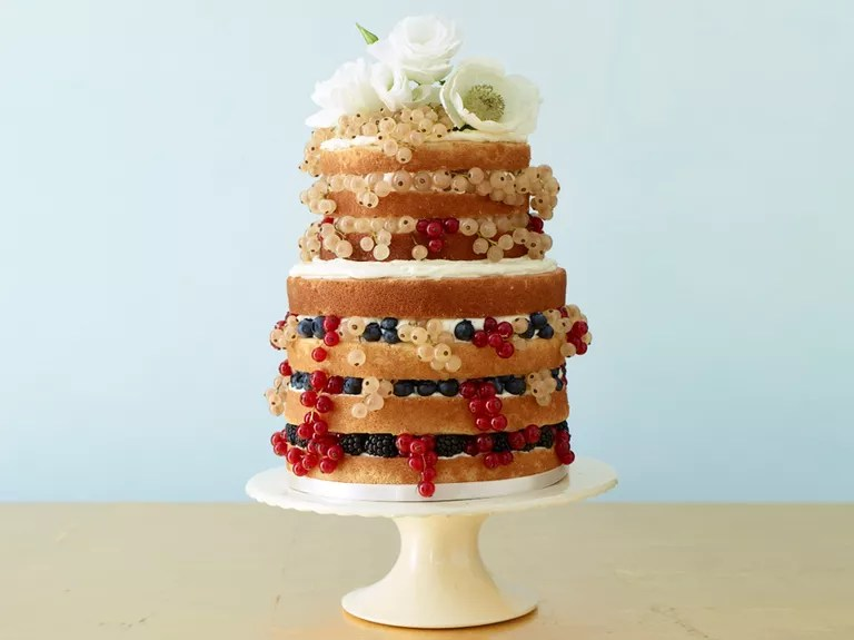 10 Unexpected Wedding Cake Ideas Naked wedding cake with berries