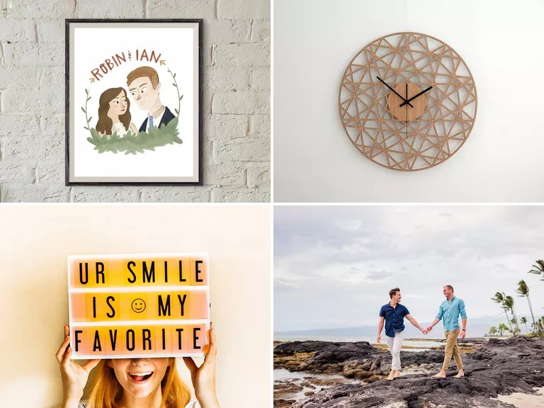 1-Year Anniversary Gifts For Him, Her And The Couple