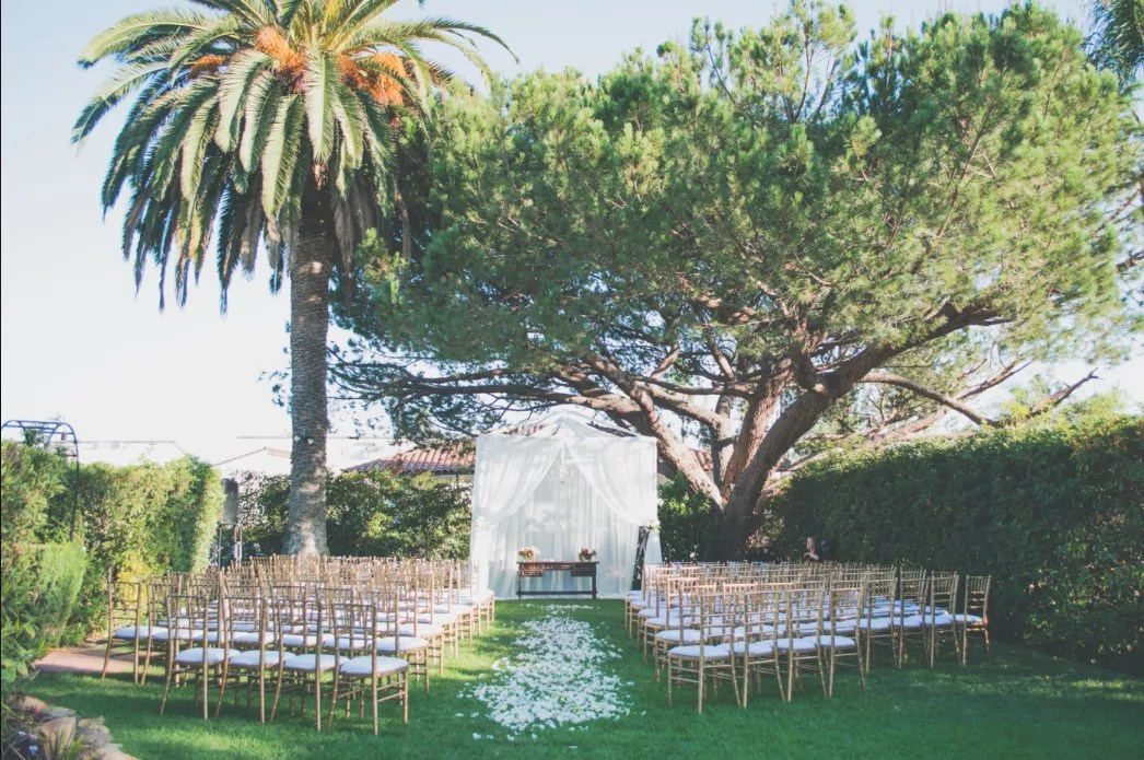 Riviera Mansion Top Santa Barbara Ca Wedding Venue