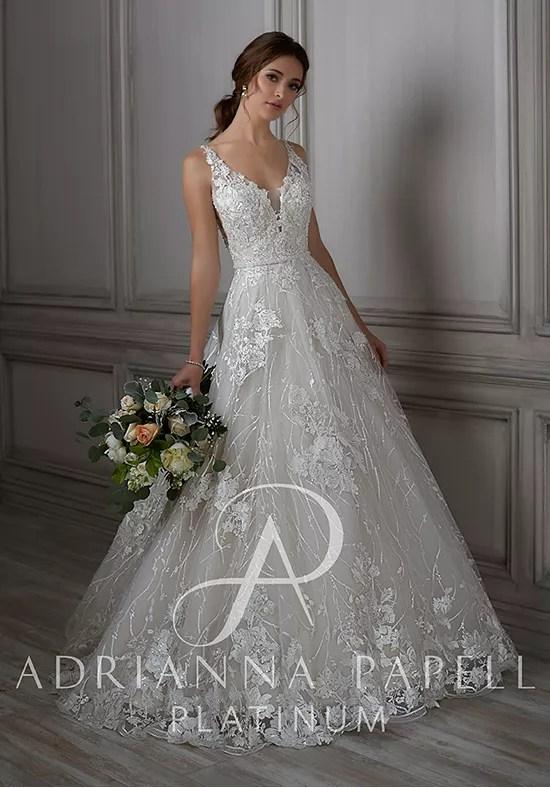 Adrianna Papell Platinum Louisa Wedding Dress The Knot