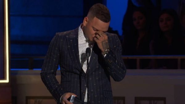 Georgia country star Kane Brown pays emotional tribute to late drummer at CMT awards