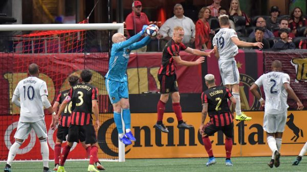 Atlanta United shuts out New England to advance in MLS playoffs