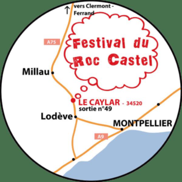 Le Festival du Rock Castel, entre Millau et Lodève, sur l'A75, sortie n°49 (village étape)
