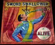 circus sideshow   sword swallower  sideshow freaks  sideshow poster