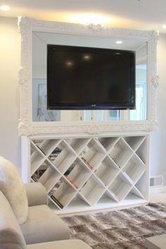 Decorating Around Flat Screen TV On Pinterest Tv Frames