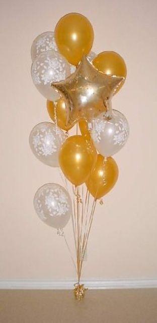 Balloon bouquet as a floor decoration