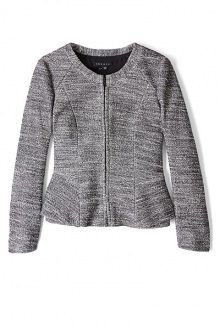 pursue jondi tweed peplum jacket by Theory