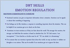 Dbt Emotion Regulation For Kids
