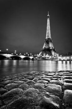 eiffel tower & cobble stones