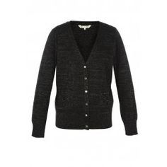 Yumi Chic And Sparkling Knitted Cardigan Black