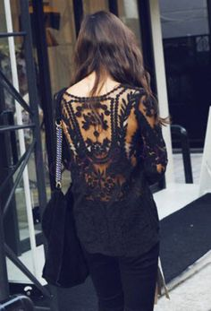 Black Lace Top , but would like it in cream.