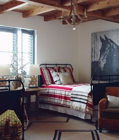 dorm room ideas? Charming Farmhouse Guest Bedroom