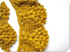 crochet edging.  Free pattern